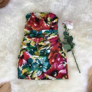 ❣️HP❣️Speechless multi colored strapless dress